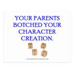 Su padre remendado su creación del carácter tarjeta postal