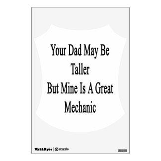 Su papá puede ser más alto pero la mina es un gran