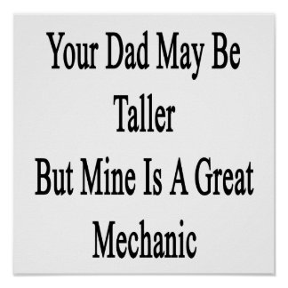 Su papá puede ser más alto pero la mina es un gran impresiones