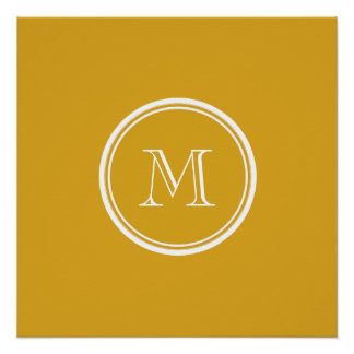 Su parte alta amarilla oscura inicial coloreada perfect poster