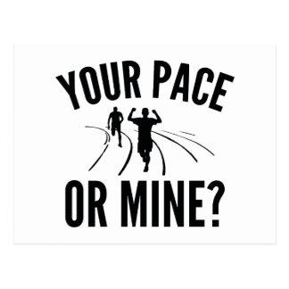 ¿Su paso o mina? Postal