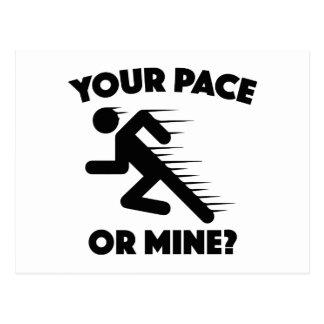 ¿Su paso o mina? Postales