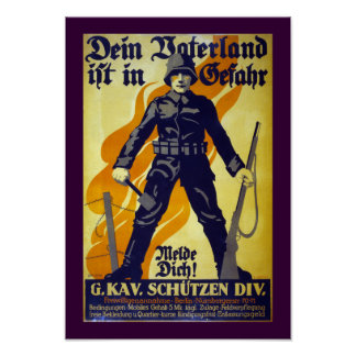 Su patria está en el peligro (la frontera) póster