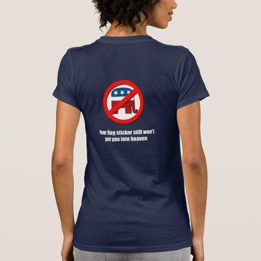 Su pegatina de la bandera todavía no le conseguirá tshirts