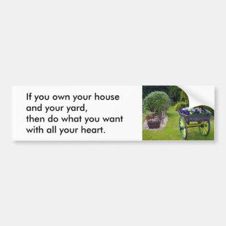 Su pegatina para el parachoques de la casa pegatina para auto