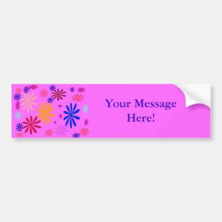 Su pegatina para el parachoques del mensaje pegatina para auto