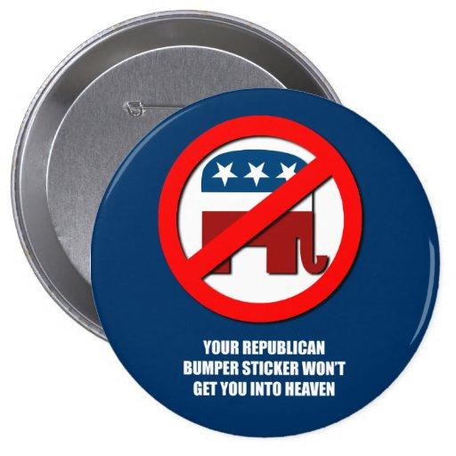 Su pegatina para el parachoques republicana no le  pins
