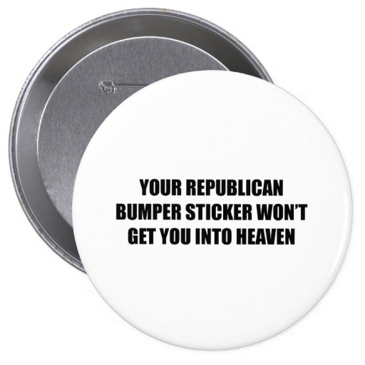 Su pegatina para el parachoques republicana no le  pin