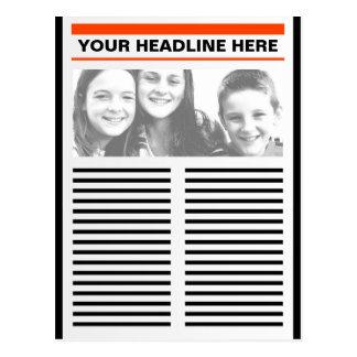 Su periódico tarjeta postal