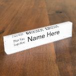 Su placa de identificación del logotipo de la comp