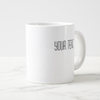 Su plantilla enorme de cerámica blanca de la taza tazas extra grande