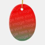 Su plantilla oval del ornamento del navidad de la  adorno