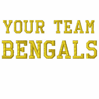Su polo bordado Bengals del nombre del equipo