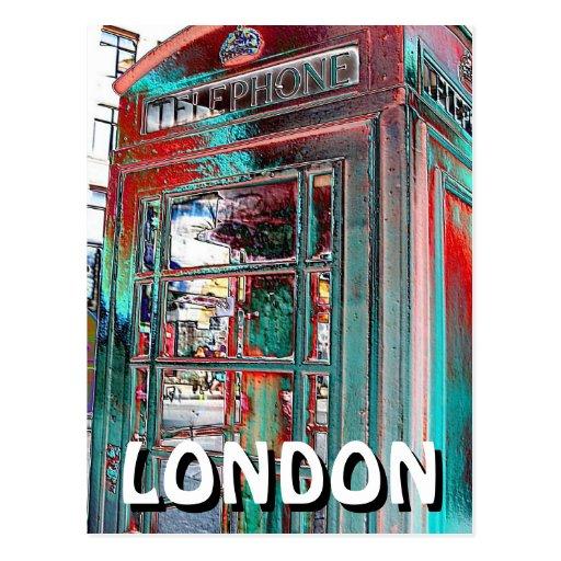 Su postal roja de Londres de la caja del teléfono