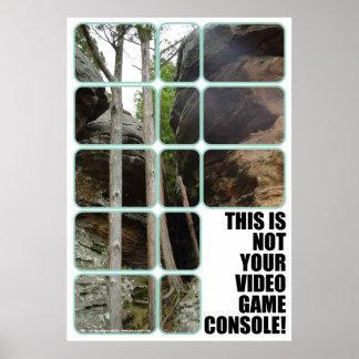 Su poster de la consola del videojuego póster