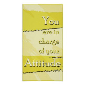 Su poster de motivación de la actitud