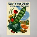 Su poster del jardín de victoria (en muchos tamaño