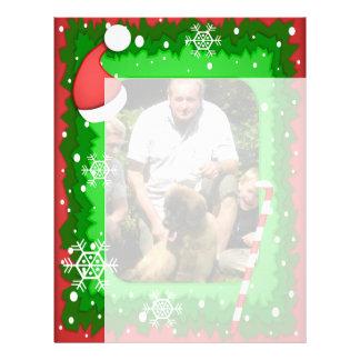 ¡Su propia foto en un marco del navidad! - Membretes Personalizados