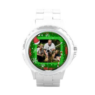 ¡Su propia foto en un marco del navidad! - Relojes De Mano