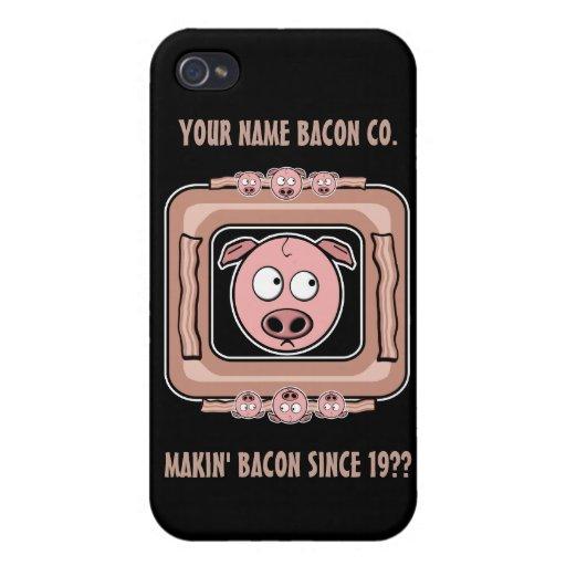 Su propio Bacon Company iPhone 4 Funda