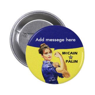 Su propio mensaje de Sarah Palin Pins