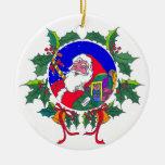Su propio ornamento de Santa del mensaje Adornos De Navidad