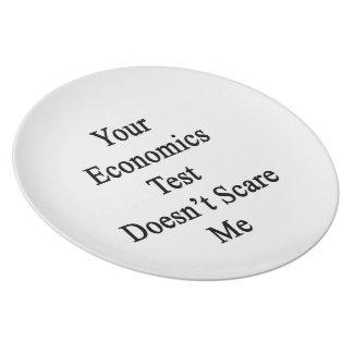 Su prueba de la economía no me asusta plato de comida