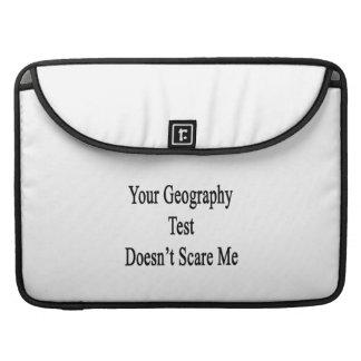 Su prueba de la geografía no me asusta funda para macbook pro