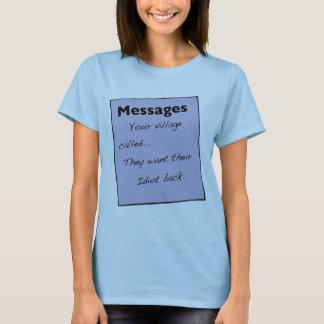 Su pueblo llamó a T-Shirt de Women's Playera