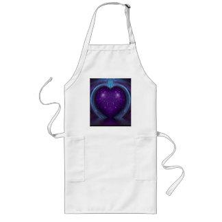 Su Purple Heart Delantal Largo