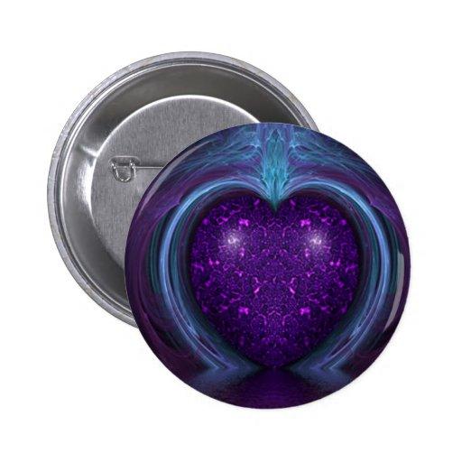 Su Purple Heart Pin Redondo 5 Cm