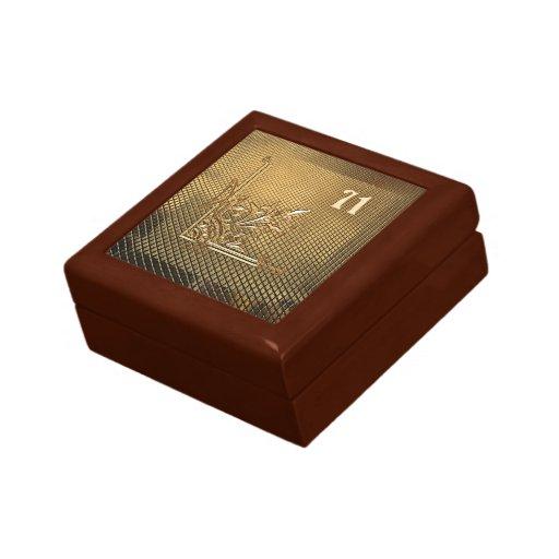 Su regalo y joyero afortunado del número 71 caja de recuerdo