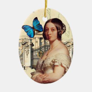 Su reina Victoria de la majestad Adorno Navideño Ovalado De Cerámica