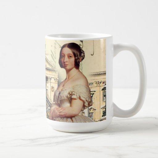 Su reina Victoria de la majestad Tazas De Café