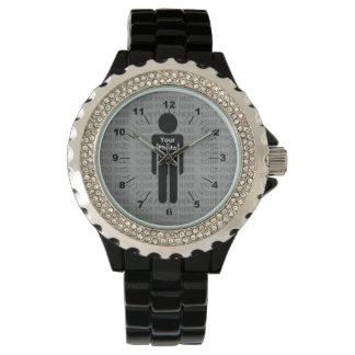 Su reloj de encargo del diamante artificial de la