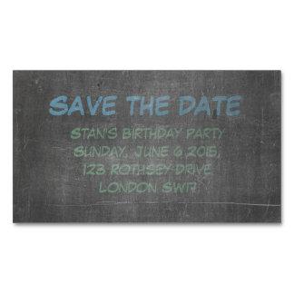 Su reserva real del cumpleaños de la pizarra la tarjetas de visita magnéticas (paquete de 25)
