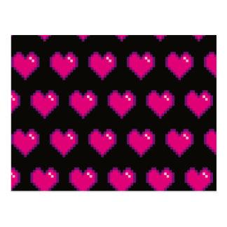 Su rosa de 8 bits conocido del amor tarjeta postal