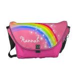 """""""su"""" rosa de arco iris conocido embroma el bolso bolsa de mensajería"""