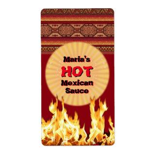 Su salsa mexicana caliente (personalizable) etiqueta de envío
