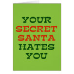 Su Santa secreto le odia Felicitacion