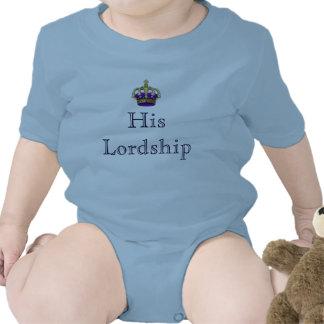 Su señor de la señoría del nuevo bebé del señorío traje de bebé
