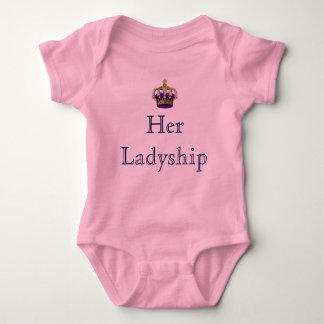 Su señora de la señoría del nuevo bebé del señorío body para bebé