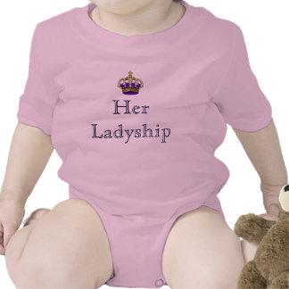 Su señora de la señoría del nuevo bebé del señorío camiseta