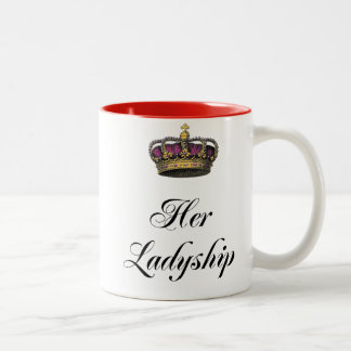 Su señoría taza de café de dos colores