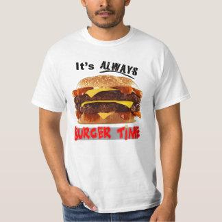 Su siempre tiempo de la hamburguesa playera
