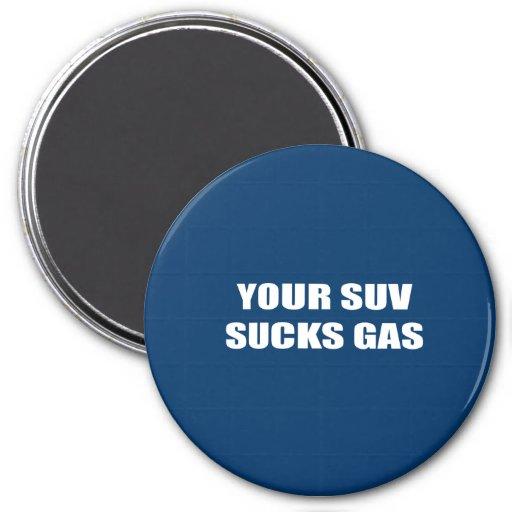 Su SUV chupa el gas Imán De Frigorífico