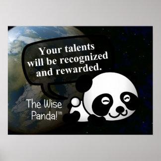 Su talento será reconocido y recompensado póster