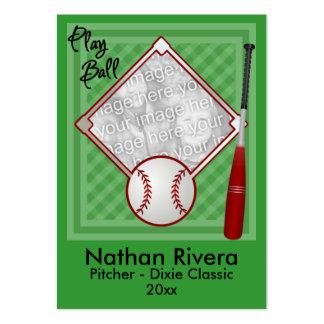 Su tarjeta de comercio del béisbol tarjetas de negocios