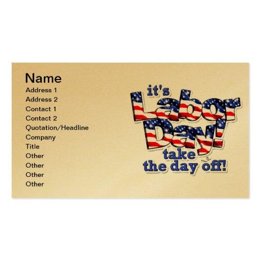 Su tarjeta de visita del Día del Trabajo