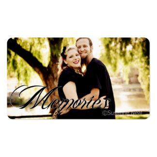 Su tarjeta de visita del fotógrafo de las memorias
